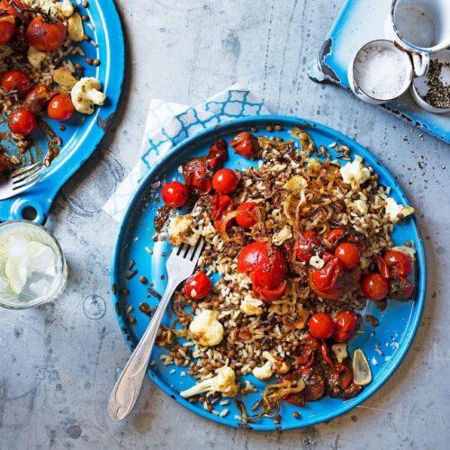 Tomato and cauliflower koshari to get you warm