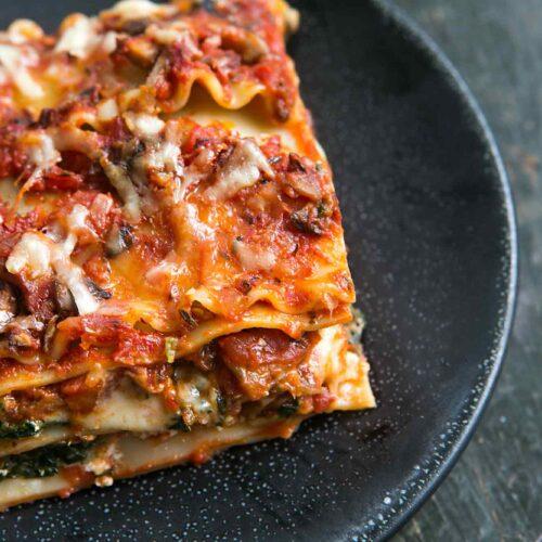 A vegan miso mushroom lasagne to get you through winter
